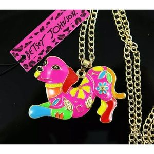 NWT BETSEY JOHNSON PLAYFUL PUPPY NECKLACE